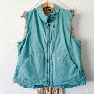Carhartt Relaxed Fit Washed Duck Sherpa Vest